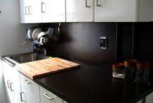Paint ugly laminate kitchen countertops
