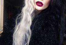 schwarz blone haare
