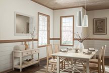 Dining in Style / Dining rooms are places where family and friends gather for great food and conversation, the backdrop makes a big difference in setting the mood.