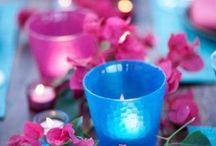 Arranjos de flores e velas / arranjos de flores e velas