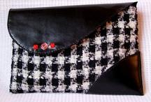 bolsos de tela y cuero