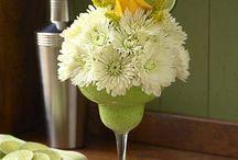 Fresh flower cocktails