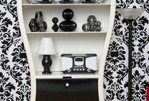 home.black.white / Home interior and decor