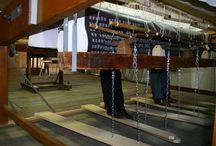 Le tissage de Tapis-Porte, création de Bécheau & Bourgeois / Les coulisses du tissage de Tapis-Porte, 3e Prix 2012 de la Cité de la tapisserie.