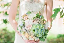 Flowers favourites / Big and blousey, vintage hydrangeas, creamy peaches & pinks. My favourite flower arrangements