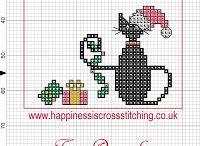Seasons Cross Stitch Charts Вышивка Сезоны