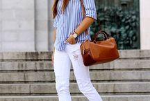Hvite jeans