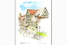 Architectural Drawings / Illustrations to download on Etsy :)