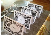 printable doodle placename cards