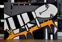 P A I N T I N G S - M U Z A I / My portfolio - Spray paintings on Canvas