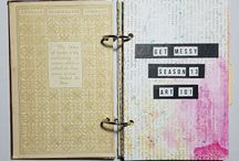 {Get Messy Art Journaling} / Each season a different theme. Visit www.getmessyartjournal.com