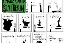 Back ground slytherin