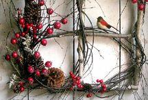 Kerst / rood witte kerstversieringen