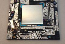 specchio mosaico b/n