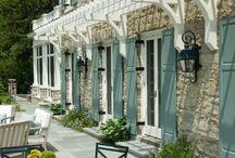 France House Exterior / Pool, Garage door, garden and Courtyard....