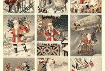 Vintage Christmas bilder