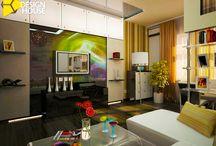 Дизайн гостиной в сочетании современного стиля со стилем хайтек.