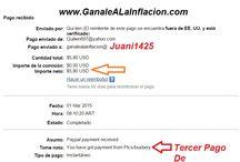 Pruebas de Pago de Juani1425 / Aca podras ver todas las pruebas de pago que voy recibiendo de las paginas para ganar dinero. Tambíen podes entrar en www.ganalealainflacion.com