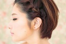capelli corti raccolti