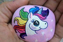 unicorn taş boyama