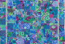 Kaffe Fassett / Kaffe Fassett has inspired people across the world with his colourful work in fabric, knitting, needlepoint, patchwork, painting and mosaic. A collection of his work and work inspired by him.