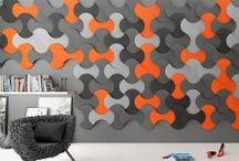 Panouri decorative din burete / 19 modele de panouri 3D din burete vopsit antistatic cu proprietati certificate fonoabsorbante. Disponibile in 52 de culori, aceste panouri se pot comanda in mai multe adancimi pentru a rezulta efectul 3D pe perete sau tavan.