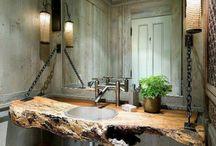 Lavabo en bois sale de bain