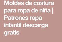 PATRONES GRATIS NIÑAS