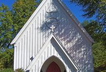 Churches and chapels / Pretty little churches / by Sharon Evans