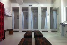 women's locker room showers