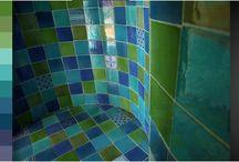 Faïences cuisine - salle de bain / Découvrez nos composition de faïences unies et décorées pour vos plans de travail et crédences de cuisine, salle de bain...