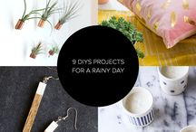 DIY: Time to Get Crafty / New at noteworthy projects in the world of DIY - decor, crafts, art, home, style, fashion and more.