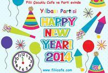 Çocuklar için yılbaşı Partisi / Çocuklar için Yılbaşı Partisi Beylikdüzü Filii cafe de