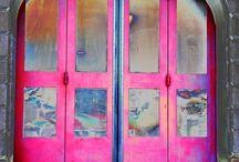GREY & pink...