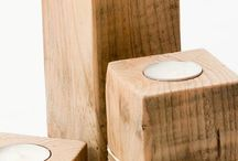 Reclaimed Wood - Décor Accessories / Inspirational ideas for décor accessories made from reclaimed wood