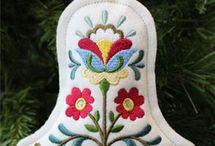 Christmas Felt Embroidery