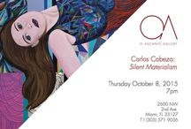 Carlos Cabeza  Silent Materialism- O. Ascanio Gallery Miami Fl.www.o.ascaniogallery.com / Miami - O. Ascanio Gallery is honored to present its second solo exhibition on the work of Paris-based painter Carlos Cabeza, following his debut exhibition in Wynwood, Rhythmic Painting, in 2010.    Silent Materialism presents windows into varied dimensions. These are discernible but their curvature and order unintelligible. Carlos Cabeza paints austerity, decomposing mass and dimensionality into essence. What we see is a mechanism of beingness, matter saturating infinite space. Eugenia Briceño