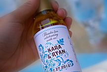 Olive Oil and Weddings / Here are some photos of olive oil and vinegar wedding favors and souvenirs we have created for our clients.  We offer a variety of high-quality extra virgin olive oils, flavored olive oils, and vinegars.  We have a lot of different label templates you can personalize on line (DIY) and we also offer a full customization service. If you are in a hurry, you can just buy one of our Ready-to-Go favors. / by The Olive Oil Source Party Favors