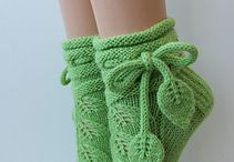 Вязанные носки и чулки