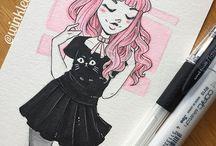 dibujos outfits