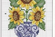 Cross Stitch - Flowers / by Angela Wall