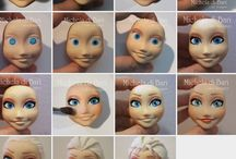 Frozen cake figurines