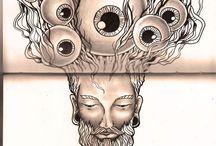 my illustrations / consciousness art