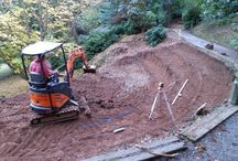 Trebah Amphitheatre / Our Head Gardener Darren is in the process of building an amphitheatre in the garden which will be used for open air performances.