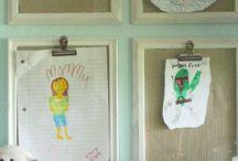 Childrens art storage