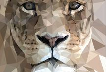 Low Poly Geometric Art