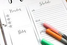 Weekly planner / calendars