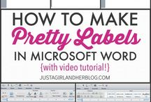 Labels, using Microsoft Word