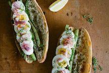 bread /  bucket bread sandwich