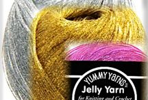 Fun With Jelly Yarn® / I love this crazy yarn so much (and its originator, Kathleen Greco) that I added the whole line to my online crochet shop! Direct link: http://www.shop.designingvashti.com/Jelly-Yarn-Complete-Line_c42.htm
